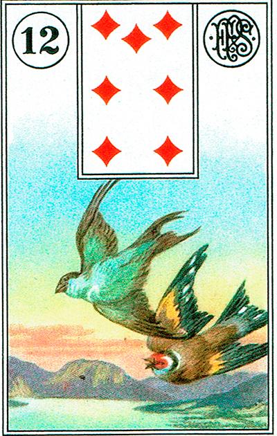 Los Pájaros - Lenormand Tarot