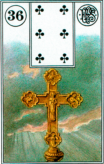 La Cruz - Lenormand Tarot