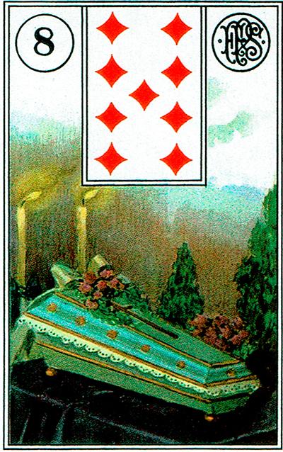 El féretro - Lenormand Tarot
